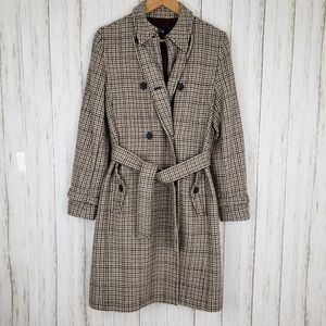 Gap Houndstooth Belted Trenchcoat